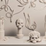 Topiaires d'hiver, porcelaine, fil de nichrome, épingles entomologiques, dimensions variables (photo: Étienne Dionne)