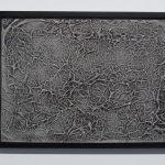 Topographies II, porcelaine, glaçure, encadrement, 50 x 60 cm