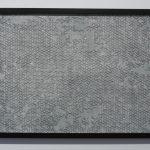 Topographies III, porcelaine, glaçure, encadrement, 50 x 60 cm